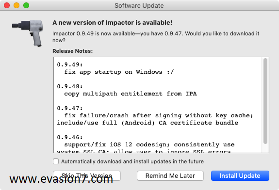 latest cydia impactor