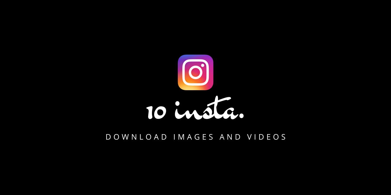 10insta instagram downloader