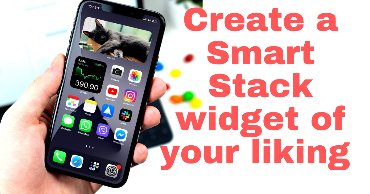 iOS 14.6 Create a smart stack widget to your liking