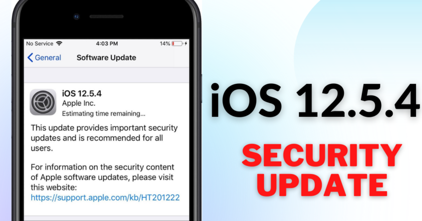 security content of iOS 12.5.4